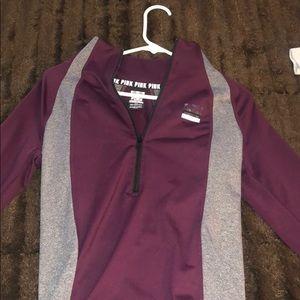 VS PINK half zip jacket burgundy/wine color